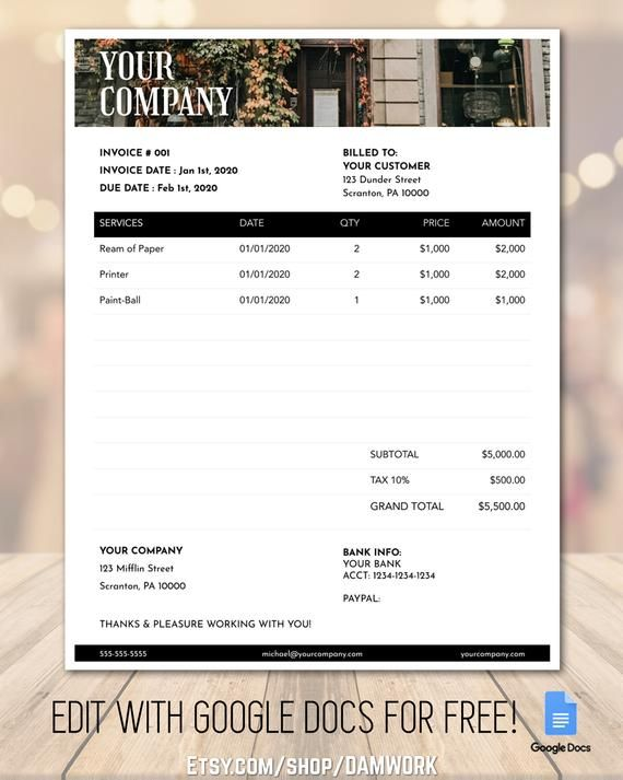 Invoice Template Printable Billing Form Wedding Etsy In 2021 Invoice Template Recipe Book Templates Templates