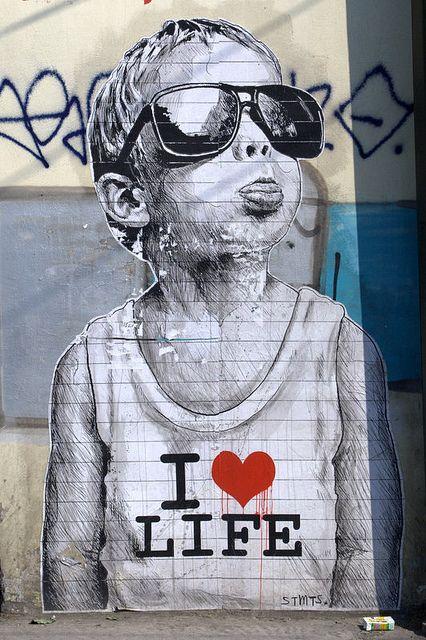 I Love Life by server pics on Flickr.A través de Flickr:  Athens Street Art, Greece  By STMTS…