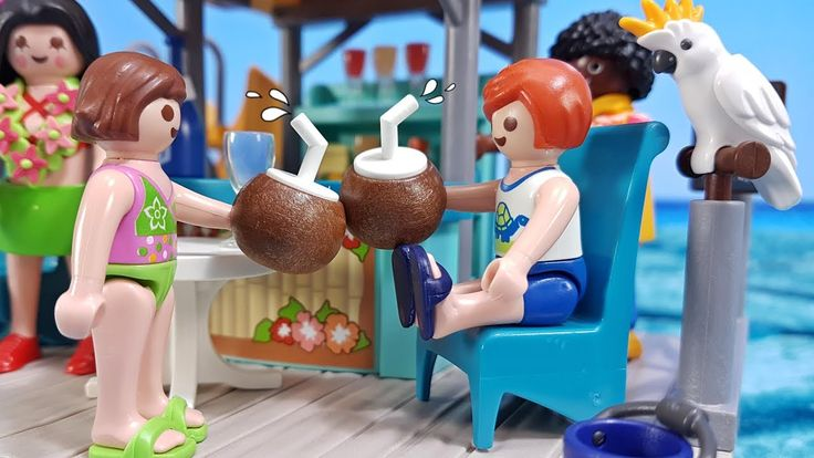 Playmobil Film with Island Juice Bar Playset only! for kids