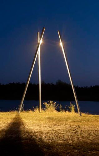 Urban lamp post / contemporary / stainless steel / halide bulbs 17º COLUMN by…