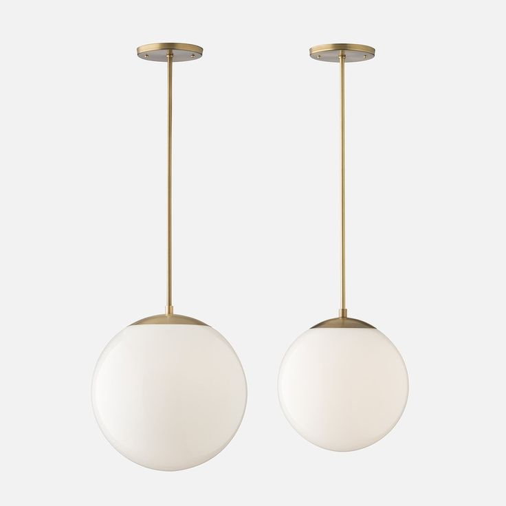 Luna Pendant Rod - Natural Brass with 12