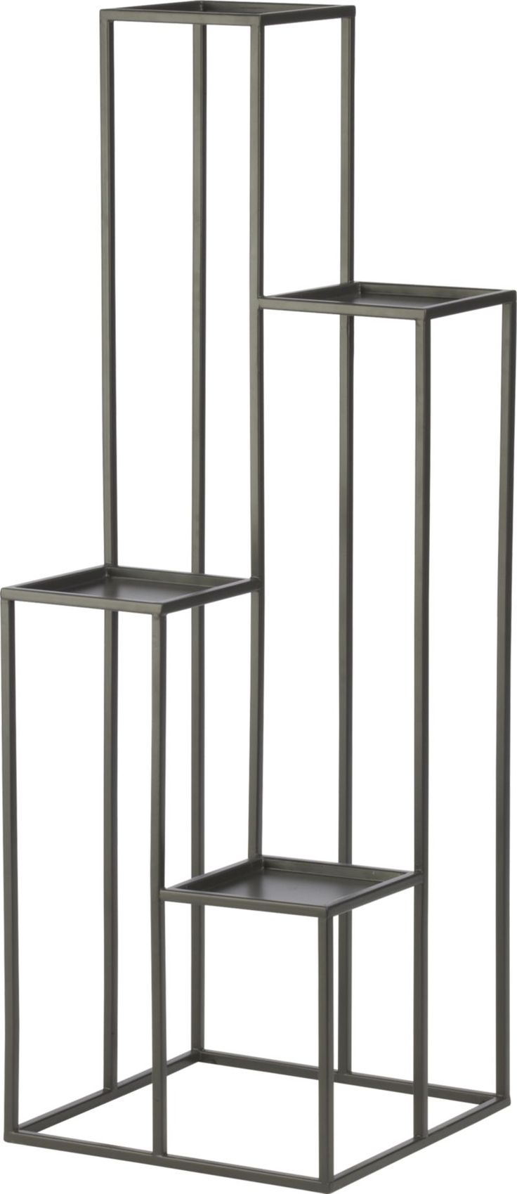 Quadrant Plant Stand in Garden, Patio   Crate and Barrel