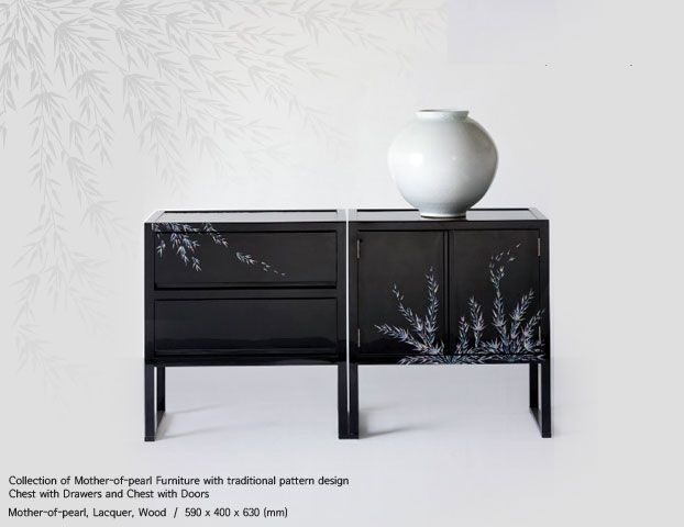 korean furniture | Korean furniture Mother of pearl Chest with drawers and doors