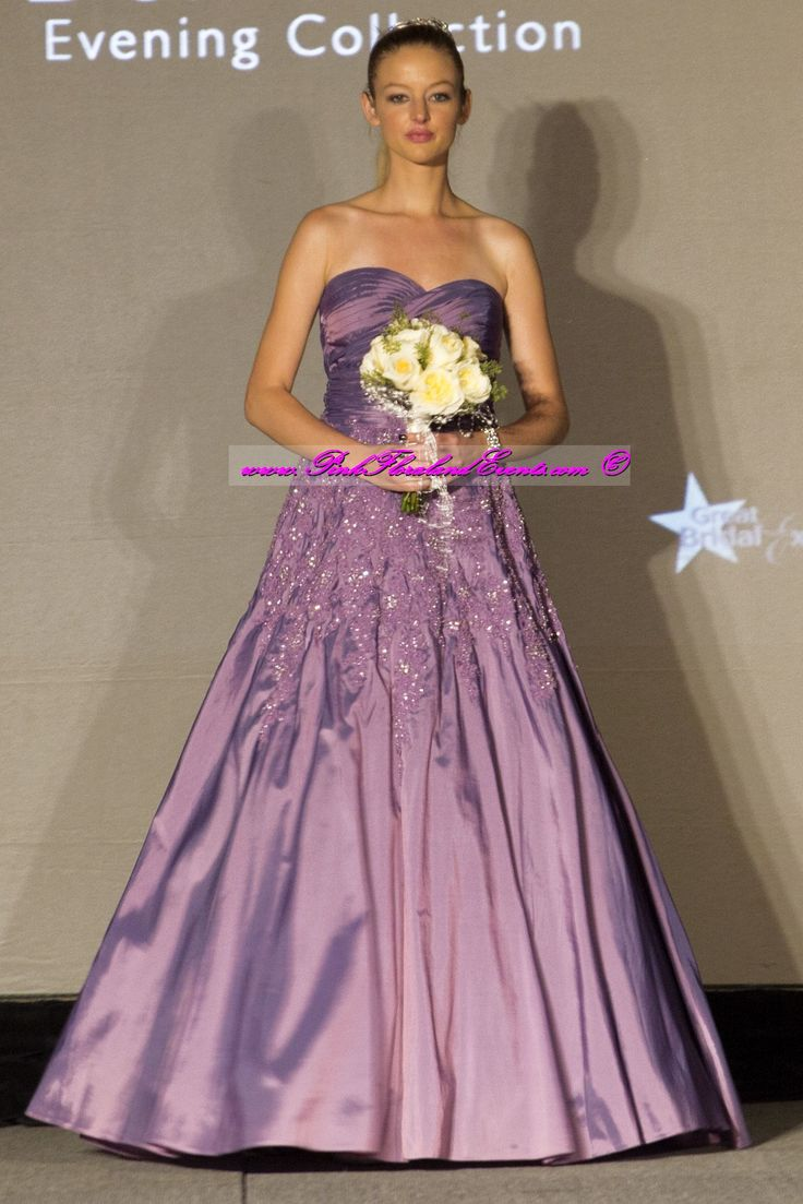 50 best pink floral and events designs images on pinterest for Cream and purple wedding dresses