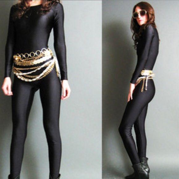 Vintage 80's Black Catsuit True Vintage 80's - Black Spandex Catsuit. Size small. Great condition! No snags! Pants