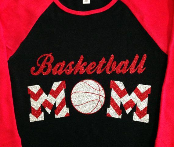 Custom Glitter & Chevron Basketball Mom by GirlieGirlCouture