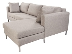 Melanie 2.5 Seater Sofa with Chaise - Made in Australia - Matt Blatt
