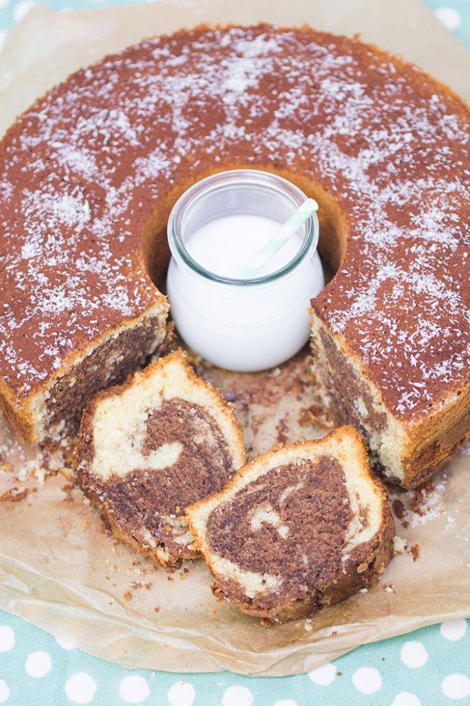 Kokos-Nutella-Marmorkuchen - Rezept | verzuckert-blog.de