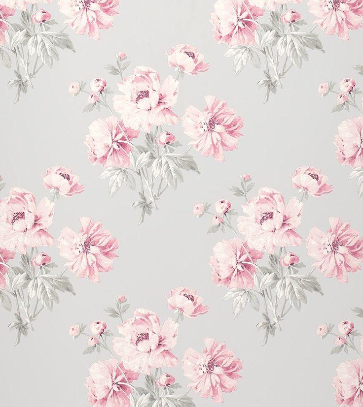 Beatrice Wallpaper in Cyclamen, Laura Ashley