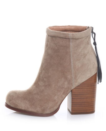 Jeffrey Campbell Rumble Taupe Suede High Heel Ankle Boots