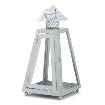 Gray Contemporary Lantern