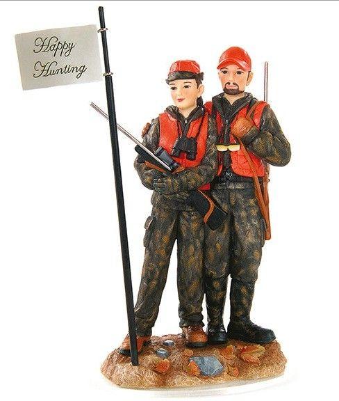 Deer Hunting Couple Wedding Cake Topper