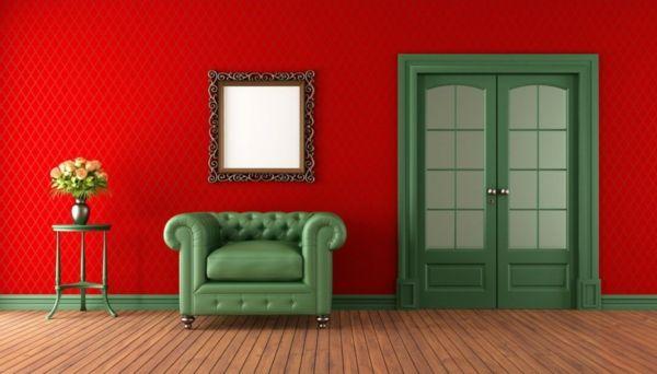 Rote Wand kombiniert mit Grün ... so geht komplementär ...