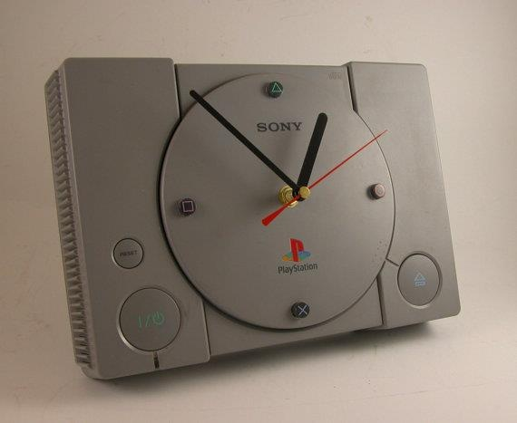 PS1 clock... I think it's time to play some ol' skool Crash Bandicoot.