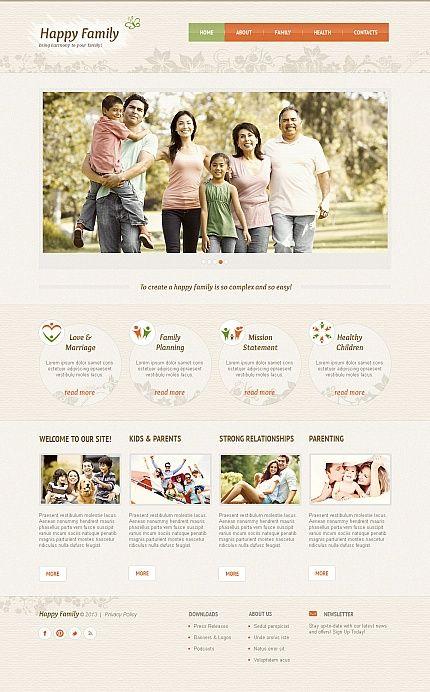 Happy Family Moto CMS HTML Templates by Hinoriko