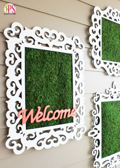 Framed Moss Outdoor Wall Decor: Outdoor Wall Art, Diy Outdoor Gardens Art, Home Ideas, Diy Tutorials, Fun Ideas, Outdoor Spaces, Posters Frames, Spring Diy Projects Ideas1504, Diy Moss Art