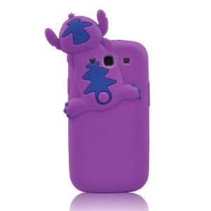 Purple S3 Cute Lovely 3d Hide & seek Stitch Soft Case for Samsung Galaxy S3 SIII S III i9300