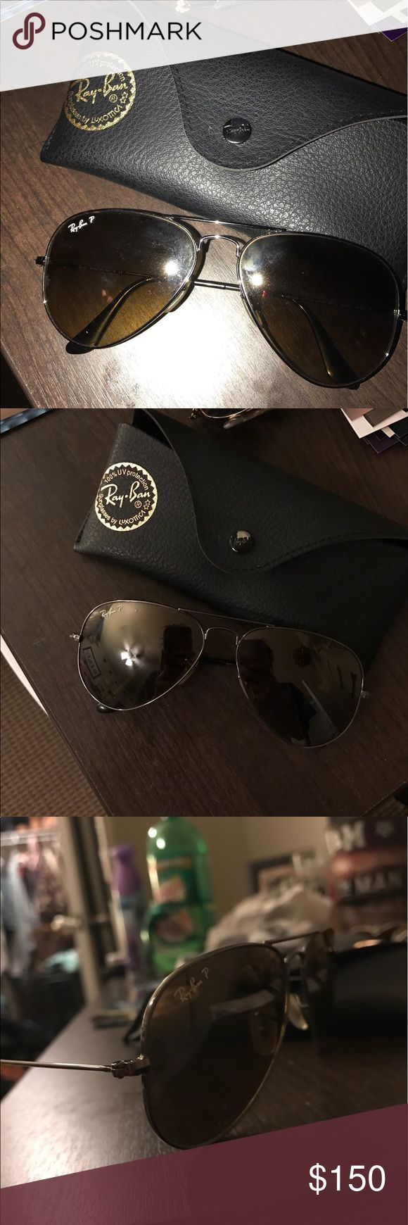 Ray-bans polarized Very good condition. Barely used, no scratches. Gun metal frame and brown lens Ray-Ban Accessories Glasses