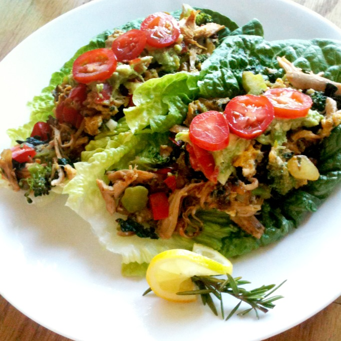Live Right Be Healthy: Rosemary Chicken Egg Lettuce Wraps