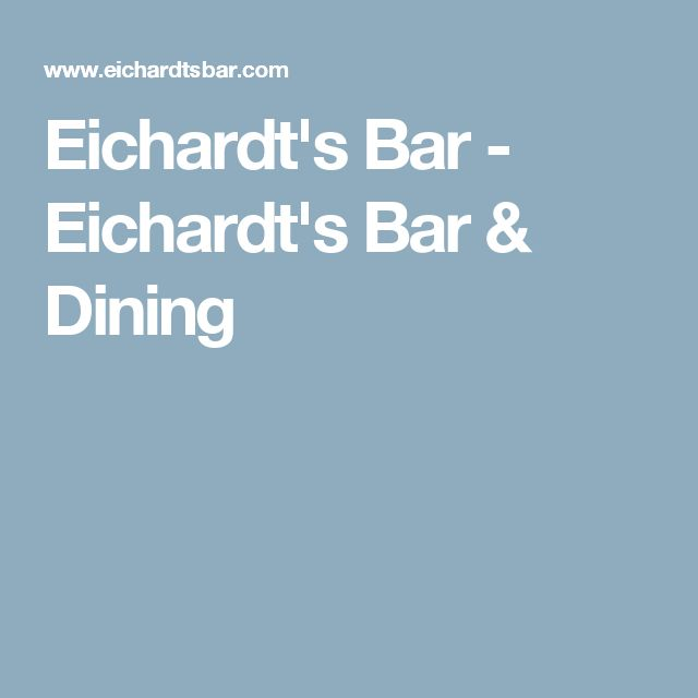 Eichardt's Bar - Eichardt's Bar & Dining