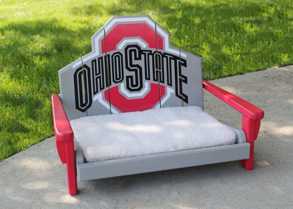 Ohio State Pet Bed By Northcoastadirondack On Etsy 125 00 Ideas Pinterest Buckeyes And
