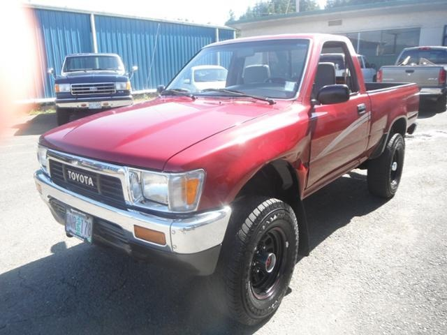 1990 toyota pickup 1 2tonshortwheelbasedlx truck 2 doors maroon for sale in coos bay or http. Black Bedroom Furniture Sets. Home Design Ideas