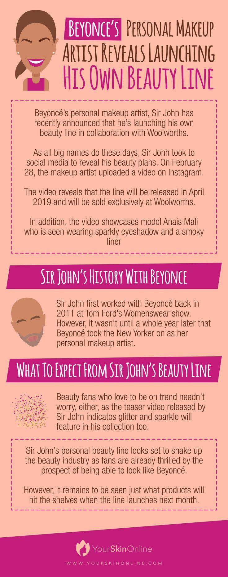 Beyoncé's personal makeup artist, Sir John has recently