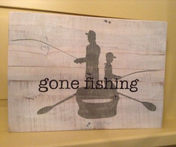 Gone Fishing Signs Decor: Gone Fishing Pallet Sign
