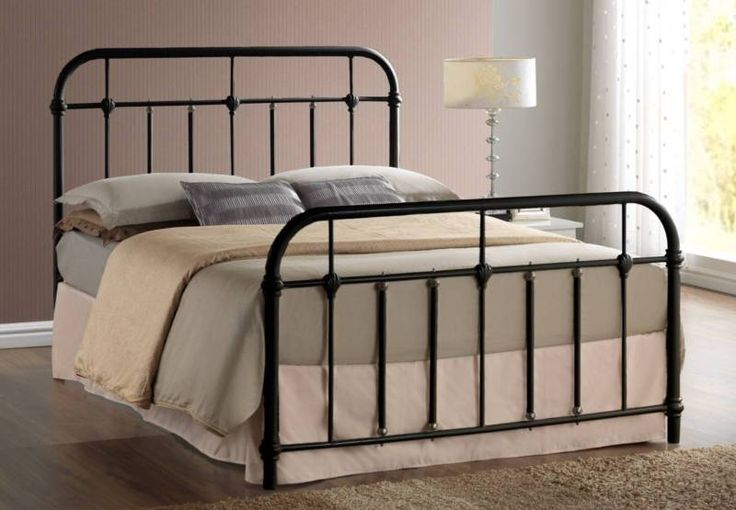 Brand new double size bed Black satin finish with brass touches Sturdy metal tube base Cash, cheque or direct bank transfer only no credit card or EFTPOS ..., 1165050787