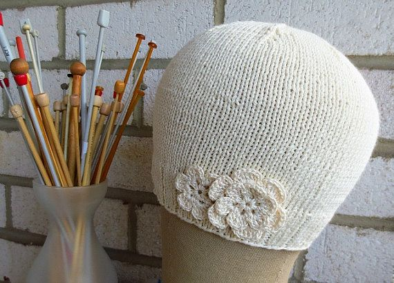 Soft bamboo & cotton make this lightweight cap wonderful for spring and summer for anyone going through chemo or any type of hairloss. at https://www.etsy.com/listing/228866797/new-bamboo-cotton-cap-with-flower-soft