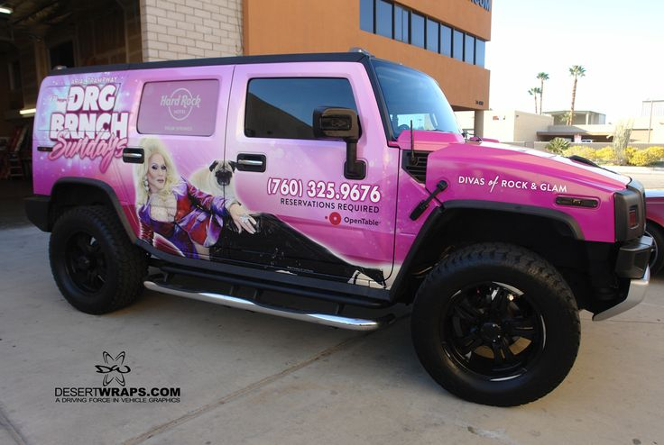 Check out this Hummer wrap we just finished for Ariel Trampway's DRG Brunch at the HardRock Hotel in Palm Springs!!