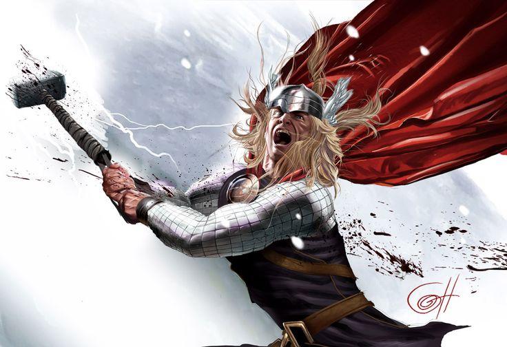 THE MIGHTY THOR: Geek Artists, Artists Greg, Comic Marvel, Marvel Art, Marvel Comic, Horns Illustrations, Mighty Thor, Greg Horns, Comic Artworks