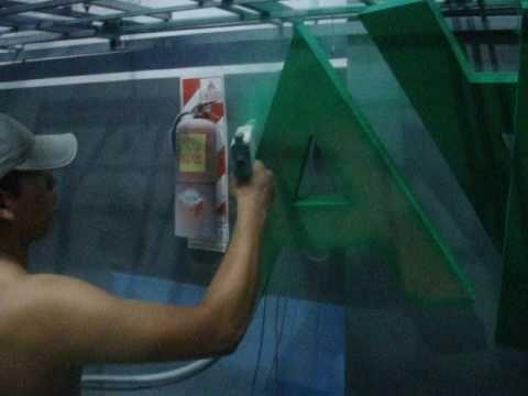 pintura electrostatica - YouTube
