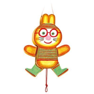 Djeco Pantin en bois : Lapin Lulu - marque : Djeco Pantin en bois : Lapin Lulu... prix : 9,45 € chez Avenue des Jeux #Djeco #AvenuedesJeux