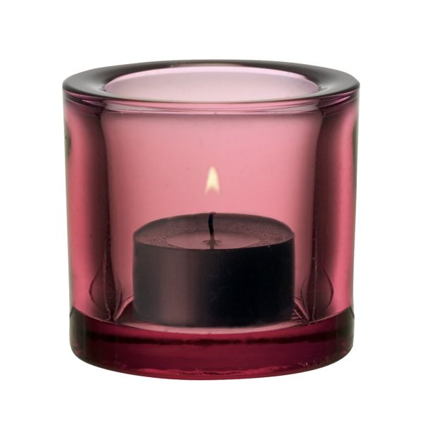 Kivi, candle holder, by Heikki Orvola, for Iittala... rosso granato