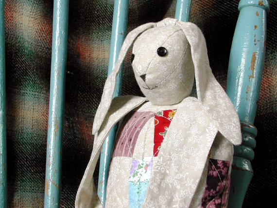 patchwork and quilted cute bunny rabbit bag by SlaneyHandCraft, €23.00
