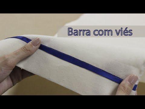 Como fazer barra com viés / Barra para tecidos grossos - YouTube