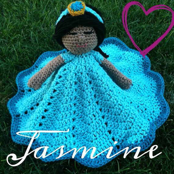 Crochet security blanket lovey- princess doll