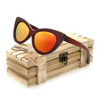 BOBO de AVES 2016 Madera gafas de Sol Para Hombre gafas de sol gafas de Sol Cuadradas Mujeres Hombres Top Diseñador de la marca Gafas de espejo de colores