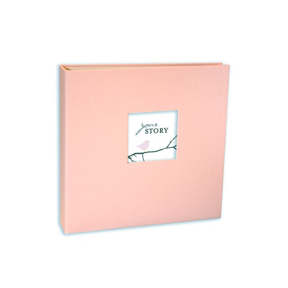 Girl Modern Baby Memory Book Whimsy Pink Pages Pink by ednamae, $65.00