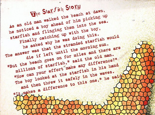 The Starfish Story   Every teacher should read this, such a beautiful point of view