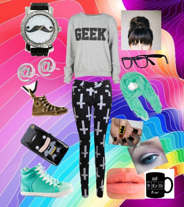 geek outfit by nialls girly liked on polyvore polyvore. Black Bedroom Furniture Sets. Home Design Ideas
