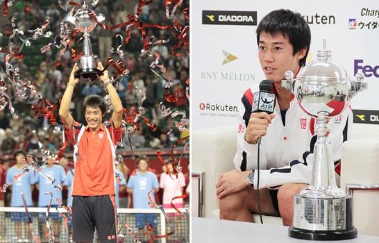 男子テニスツアーの楽天ジャパン・オープン(日本/東京、ハード)は7日、シングルス決勝が行われ、第8シードの錦織圭(日本)が第6シードのM・ラオニチ(カナダ)に7-6 (7-5), 3-6, 6-0のフルセットで勝利、今大会がツアー公式戦となった1973年以降で日本人初の優勝となる快挙を成し遂げた。
