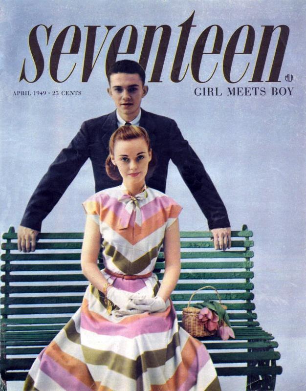 vintage cover design | Seventeen Magazine 1949