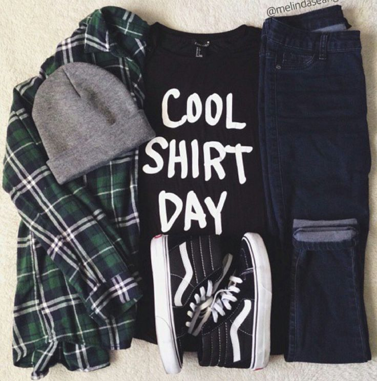 U0026#39;Cool shirt dayu0026#39; tee with flannel and high top VANS | F A S H I O N | Pinterest | High tops ...
