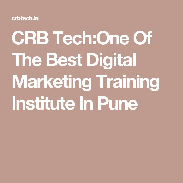 CRB Tech:One Of The Best Digital Marketing Training Institute In Pune