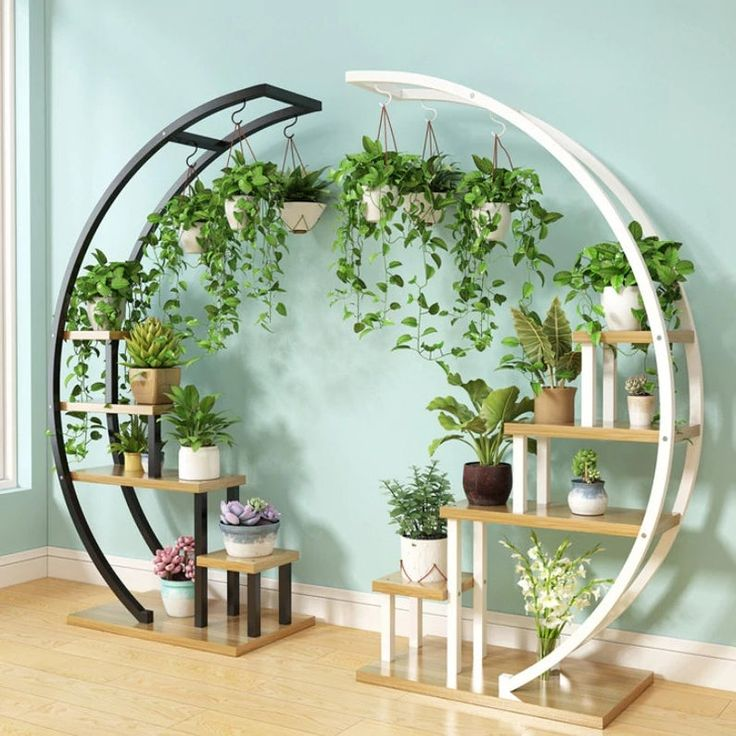 New Living Room Home Flower Shelf Stand New House Decoration Etsy In 2021 Garden Rack House Plants Decor Hanging Plants Indoor