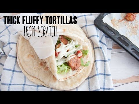 Thick Fluffy Tortillas from scratch | Elephantastic Vegan