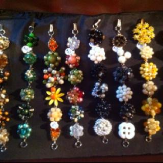 Handmade bracelets from vintage earrings!