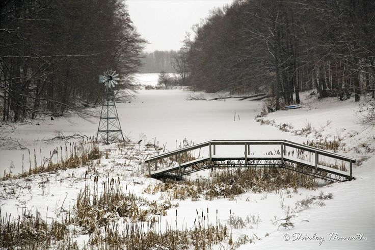A quick stop in the morning to capture a favourite spot yesterday while it was snowing.